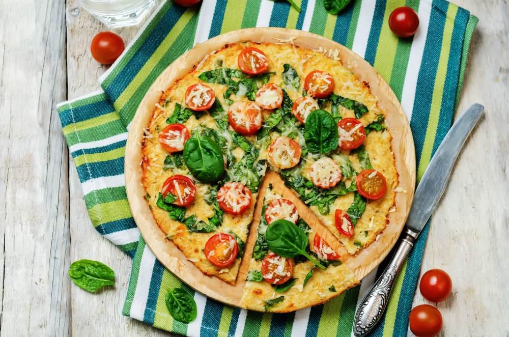 Pizza rapide et saine au chou-fleur
