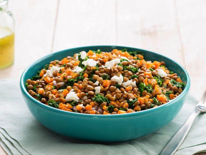 Salade light aux lentilles et carottes