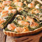 Quiche légère et fondante aux épinards et saumon