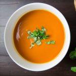 Soupe minceur carottes et aneth