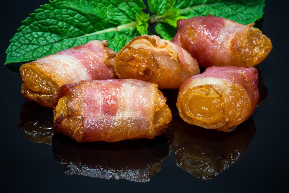 abricot roti au bacon