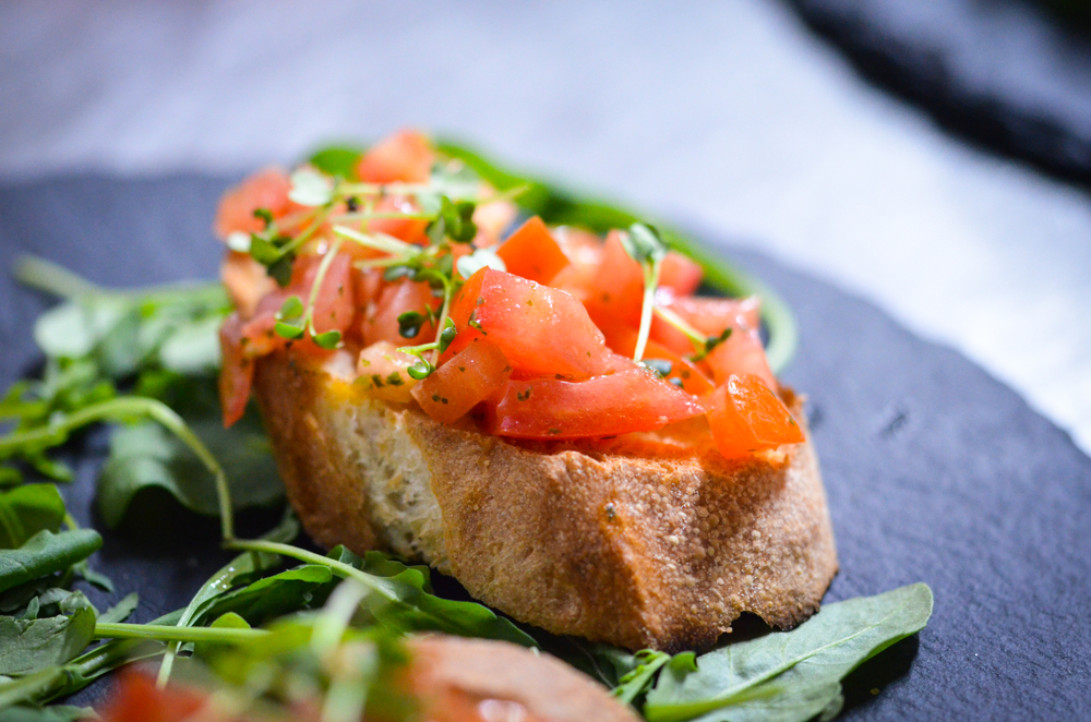 Bruschetta tomates et huile d'olive