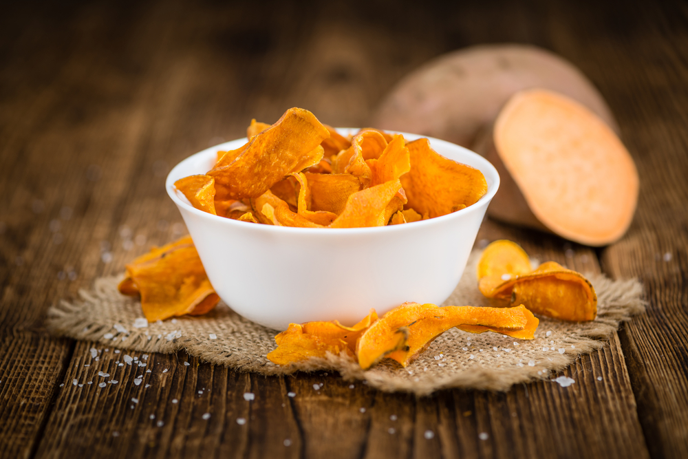 Chips de patates douces paprika