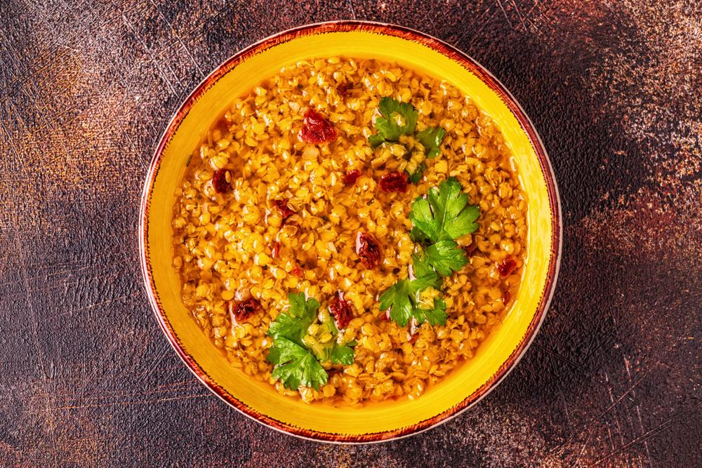 Curry de lentilles au lait de coco