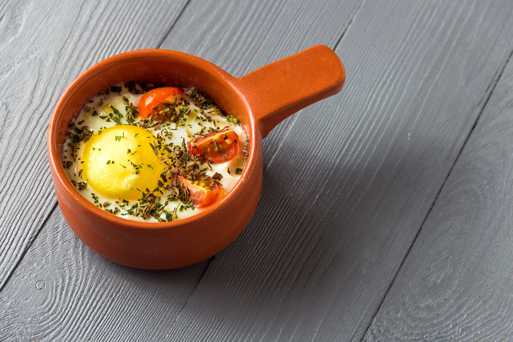 oeuf cocotte tomate jambon