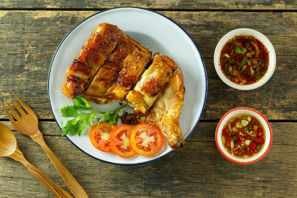 poulet braisé façon thaï