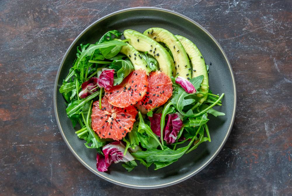 Salade healthy avocat pamplemousse