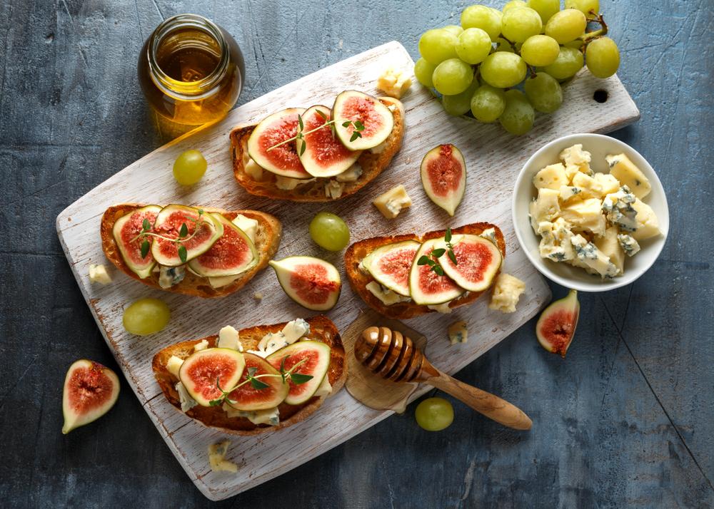 Tartines figues gorgonzola