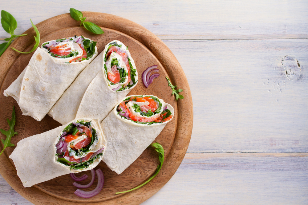 Wrap healthy au saumon fumé