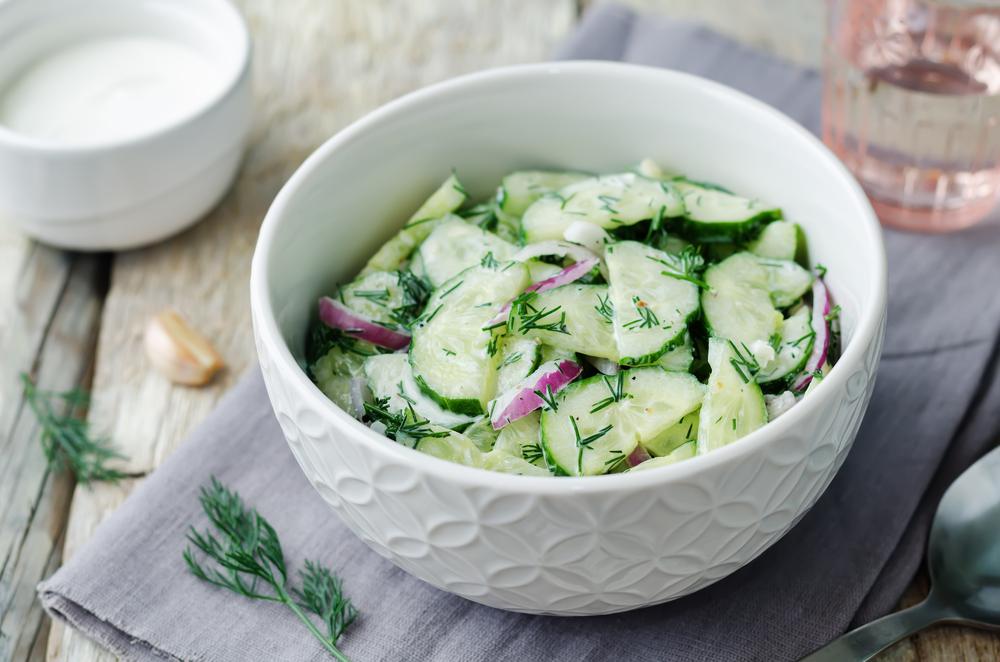 Salade concombre et yaourt healthy