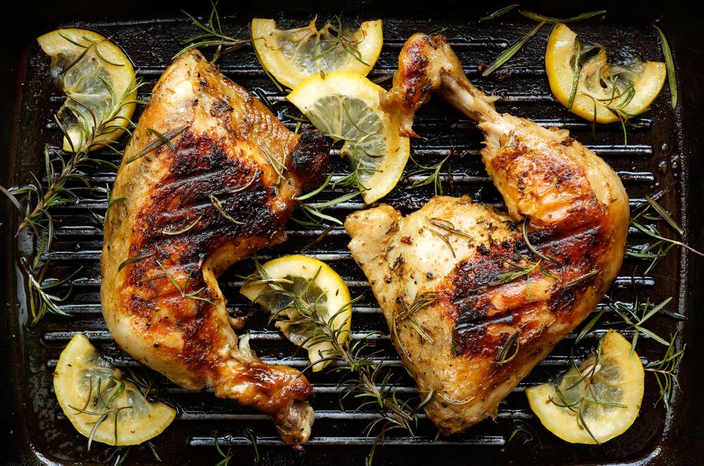 cuisse de poulet au citron et romarin