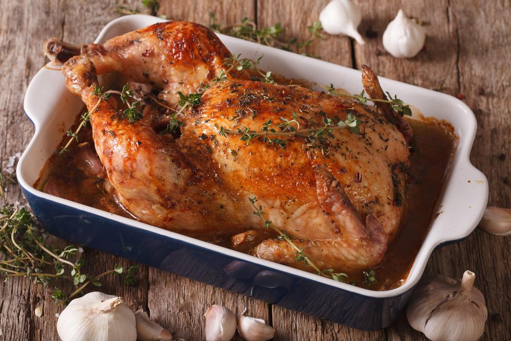 poulet roti au thym et citron