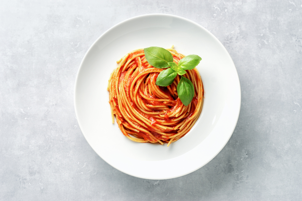 spaghettis à la crème de piment